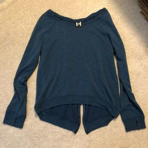 Nordstrom Rack Zipper Back Sweater w/ Thumb Holes!